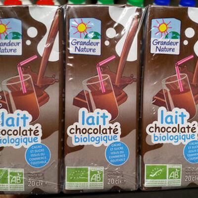 Lait chocolaté à boire bio & équitable (Grandeur nature)