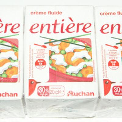 Crème fluide entière (Auchan)