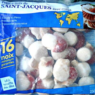 Petites noix de saint-jacques avec corail surgelées (Auchan)