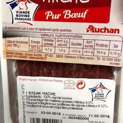 Steak haché 5% (Auchan)