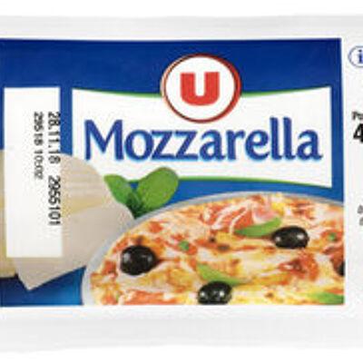 Mozzarella au lait pasteurisé 18% de mg (U)