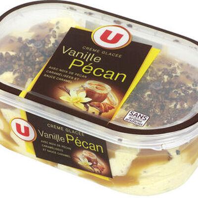 Crème glacée vanille, noix de pécan et caramel (U)