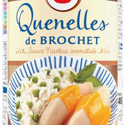 Quenelles de brochet sauce nantua aromatisée (U)