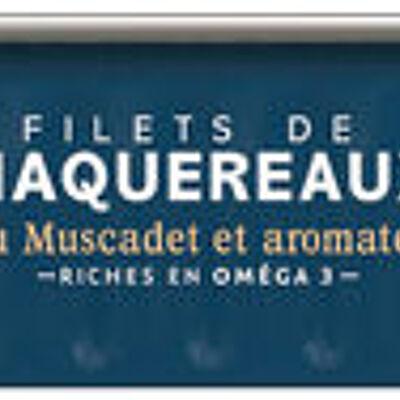 Filets de maquereaux au muscadet et aromates (U)