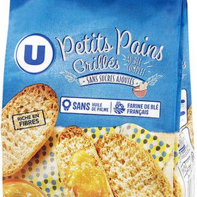 Petits pains grillés au blé complet sans sucre ajouté (U)