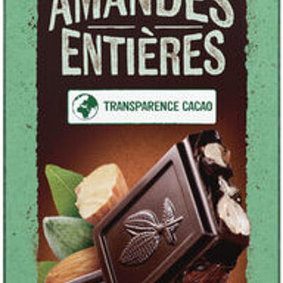 Tablette de chocolat noir aux amandes (U)