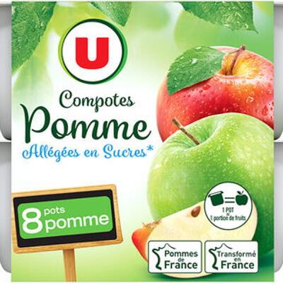 Coupelle allégée dessert de fruits pomme nature (U)