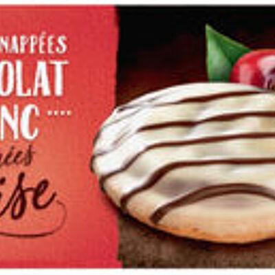 Biscuits fourrés à la cerise nappés de chocolat (U)
