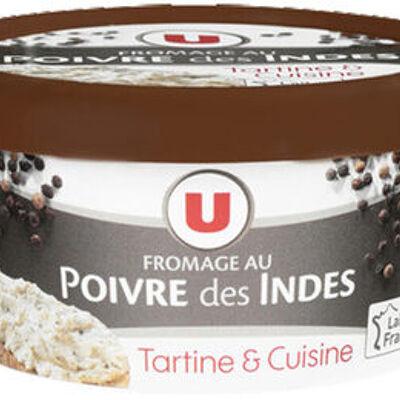 Fromage au poivre au lait pasteurisé 24%mg (U)