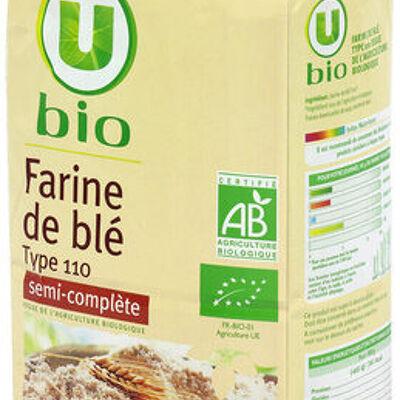 Farine de blé t110 (U bio)