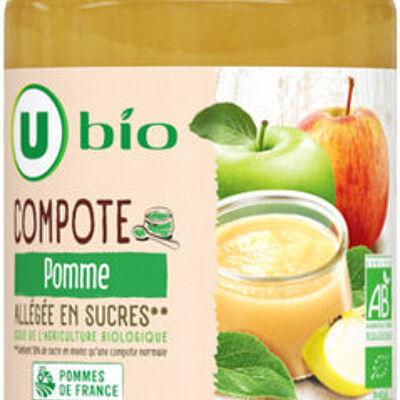 Bocal allégée en sucres compote de pomme (U bio)