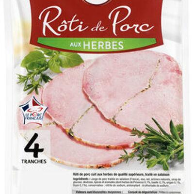 Rôti de porc cuit aux herbes viande de porc française (U)