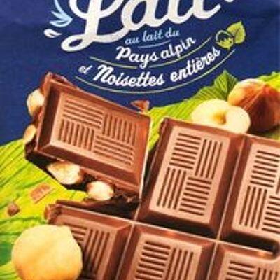 Chocolat lait noisettes entières (U)