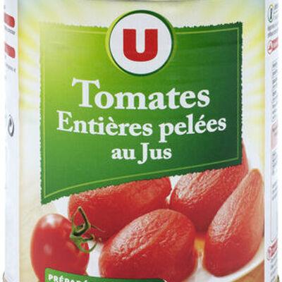 Tomates entières pelées au jus (U)