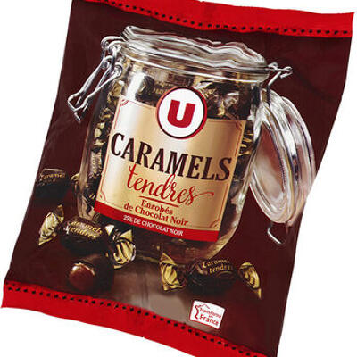 Caramels enrobés au chocolat noir (U)