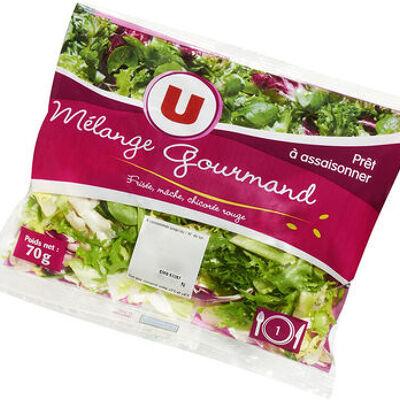 Salade mélange gourmand (frisée,mâche,chicorée rouge) (U)