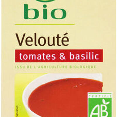 Velouté tomates et basilic bio (U bio)