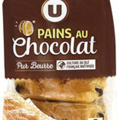 Pains au chocolat pur beurre (U)