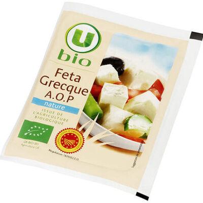 Féta grecque aop au lait pasteurisé de brebis et chèvre issue de l'agriculture biologue, 4% de mg (U)