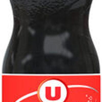 Boisson gazéfiée saveur cola avec sucre et édulcorant (U)