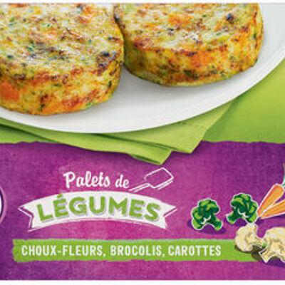 Palets de légumes chou-fleur, brocoli, carotte (U)