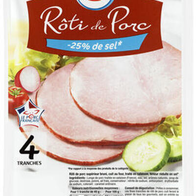 Rôti de porc - 25% de sel viande de porc française (U)