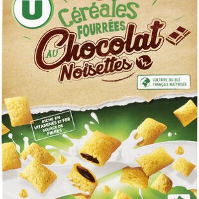 Céréales fourrées au chocolat et noisettes (U)