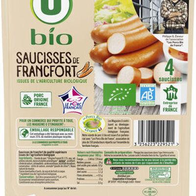 Saucisses de francfort bio (U bio)