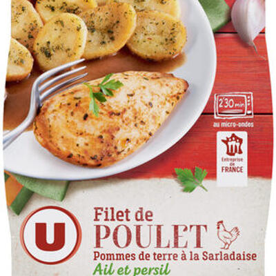 Filet de poulet pomme de terre à la sarladaise (U)