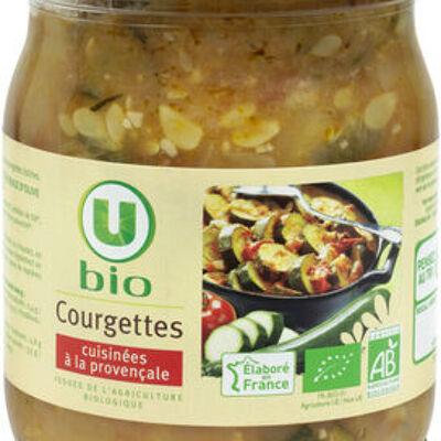 Courgettes cuisinées à la provençale (U bio)