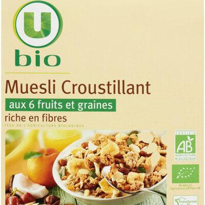 Muesli croustillant aux fruits (U bio)