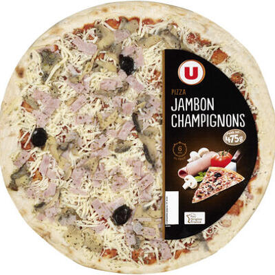 Pizza au jambon et aux champignons (U)