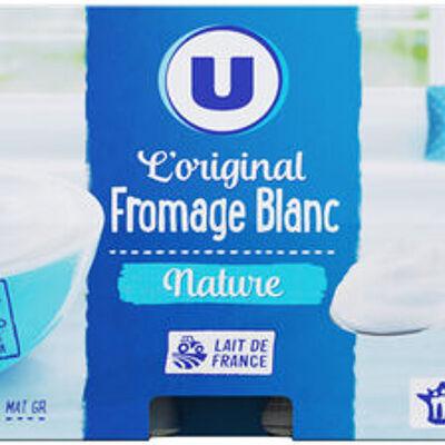 Fromage frais au lait pasteurisé nature 3,2% de matière grasse (U)