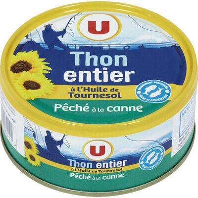 Thon entier à l'huile de tournesol pêché canne (U)