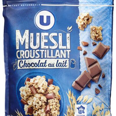 Muesli croustillant au chocolat au lait (U)