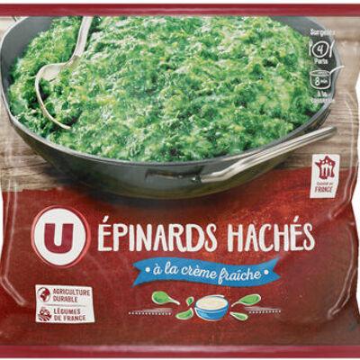 Epinards hâchés à la crème fraîche (U)