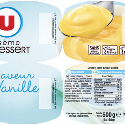 Crème dessert saveur vanille (U)