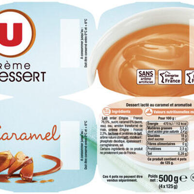 Crème dessert saveur caramel (U)