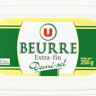 Beurre extra fin demi-sel 80% de mg (U)