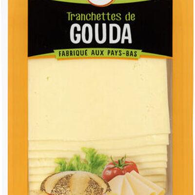 Fromage de hollande à pâte pressée en tranche gouda au lait pasteurisé 30%mg (U)