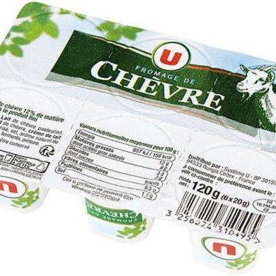 Fromage frais pasteurisé de chèvre pyramide 12% de matière grasse (U)