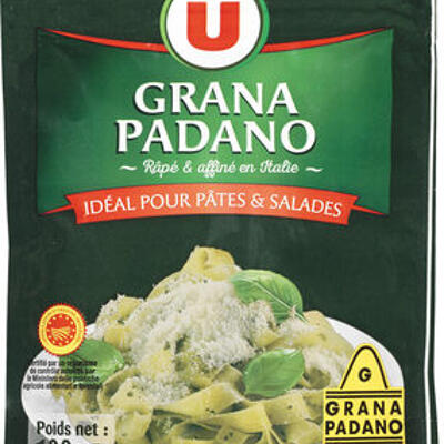 Grana padano râpé dop au lait cru 29%mg (U)