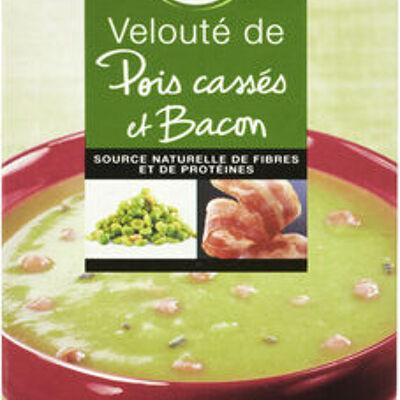 Velouté pois cassé et bacon aromatisé (U)