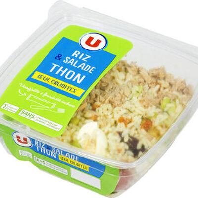 Salade riz thon oeuf et crudités (U)