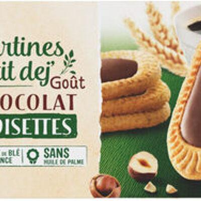 Petit déjeuner tartiné goût chocolat noisette (U)