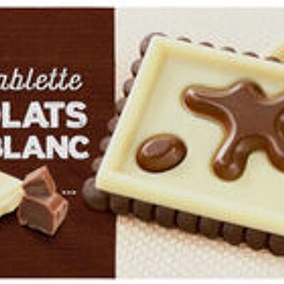 Biscuit tablette de chocolat noir et blanc (U)
