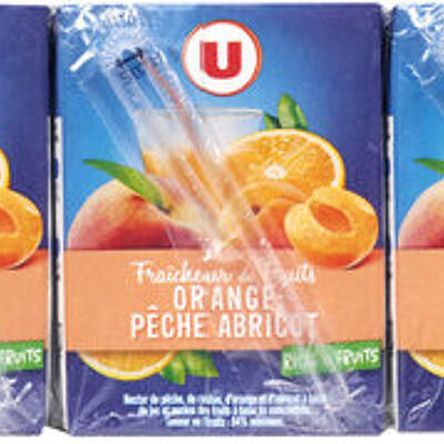 Fraîcheur fruits orange, pêche et abricot riche en fruits (U)