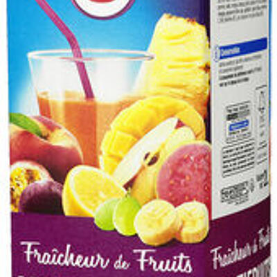 Jus fraîcheur de fruits multifruits riche en fruits (U)