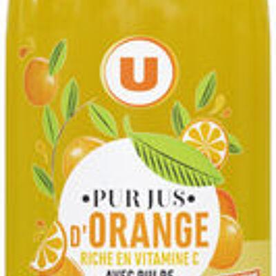 100 % pur jus d'orange avec pulpe (U)