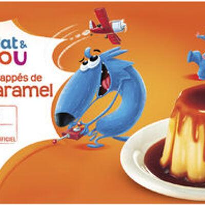 Dessert lacté flan goût vanille nappé caramel (U mat & lou)